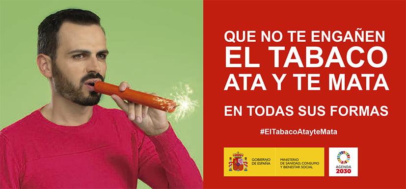 """Nueva campaña antitabaco: """"Fumar ata y te mata en todas sus formas"""""""